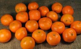 Os mandarino no pano de saco Imagem de Stock Royalty Free