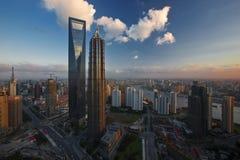 Os marcos de Shanghai fotos de stock
