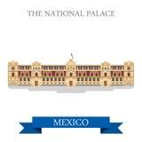 Os marcos lisos da atração do vetor nacional de México do palácio ilustração do vetor