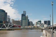 Os marinheiros constroem uma ponte sobre em Melbourne Fotografia de Stock