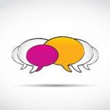 Os media sociais conversam balões Imagens de Stock