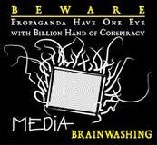 Os meios da propaganda são cuidadoso ilustração royalty free