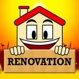 Os meios da renovação da casa fazem sobre a ilustração 3d home Foto de Stock Royalty Free