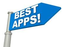 Os melhores apps ilustração do vetor
