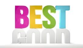 Os melhores bons 3d rendem 3d colorido rendem Imagem de Stock