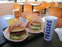 Os melhores hamburgueres nunca! foto de stock royalty free