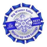 Os melhores negócios do inverno Oferta especial, ícone grande das vendas/etiqueta ilustração royalty free