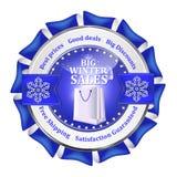 Os melhores negócios do inverno Oferta especial, ícone grande das vendas/etiqueta ilustração stock