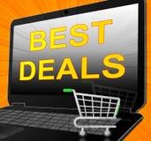 Os melhores negócios representam a ilustração relativa à promoção da liquidação 3d ilustração stock