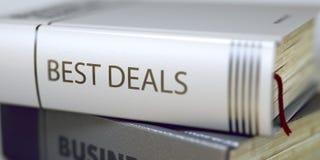Os melhores negócios - título do livro 3d Imagem de Stock