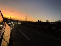 Os melhores pores do sol em Folkestone imagens de stock royalty free