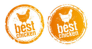 Os melhores selos da galinha. ilustração do vetor