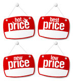 Os melhores sinais do preço Imagens de Stock