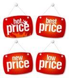 Os melhores sinais do preço Imagens de Stock Royalty Free