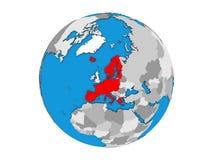 Os membros da área de Schengen no globo 3D isolaram-se ilustração stock