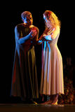 Os membros de Yevgeny Panfilov Ballet Studio do permanente executam Romeo e Juliet durante IFMC o 22 de novembro de 2013 em Vitebs Imagens de Stock