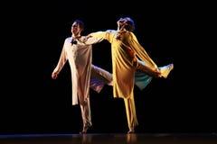 Os membros de Yevgeny Panfilov Ballet Studio do permanente executam Romeo e Juliet durante IFMC o 22 de novembro de 2013 em Vitebs Imagens de Stock Royalty Free