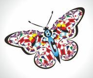 Os membros do G8 agrupam a representação da borboleta G8 ilustração royalty free