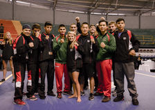 Os membros do México e o Estados Unidos Wushu team no X Panamerican Fotos de Stock