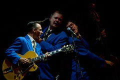 Os meninos do biscoito no estágio no festival de jazz de Úmbria Fotos de Stock Royalty Free