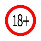 Os menores redondos proibiram o ícone 18 ilustração royalty free
