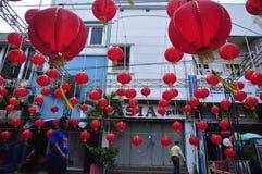 Os mercados deram boas-vindas ao ano novo chinês em Semarang Foto de Stock Royalty Free