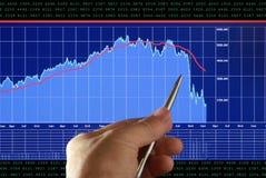 Os mercados vão para baixo foto de stock royalty free