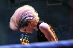 Os metros do Reino Unido executam um concerto vivo Imagens de Stock Royalty Free