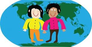 Os miúdos do mundo Imagem de Stock Royalty Free