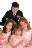Os miúdos do partido de Wed fecham-se fotografia de stock royalty free