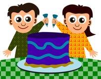 Os miúdos podem cozinhar Imagens de Stock Royalty Free