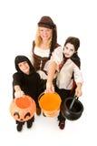 Os miúdos de Halloween querem doces Fotos de Stock Royalty Free