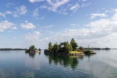Os mil cruzeiros Canadá da ilha Fotografia de Stock Royalty Free