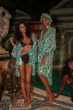 Os modelos levantam no fato da nadada dos desenhistas durante a apresentação da forma de Mara Hoffman Swim Fotografia de Stock Royalty Free