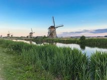 Os moinhos de vento de Kinderdijk Foto de Stock