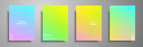 Os moldes coloridos do cartaz ajustaram-se com elementos geométricos gráficos Aplicável para folhetos, insetos, bandeiras, tampas Imagem de Stock Royalty Free