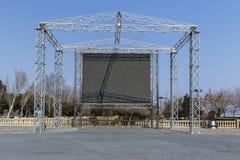 Os monitores do diodo emissor de luz do painel traseiro Fotografia de Stock Royalty Free