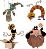 Os monstro engraçados ajustaram-se ilustração stock