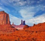 Os montículos originais do arenito vermelho Fotografia de Stock