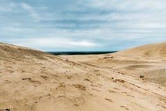 Os montes arenosos fotos de stock