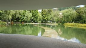 Os montes do museu de seda de Hangzhou imagem de stock