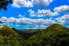 Os montes impressionantes de Bohol, Filipinas do chocolate Imagens de Stock
