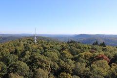 Os montes na região de Saarland Imagens de Stock Royalty Free