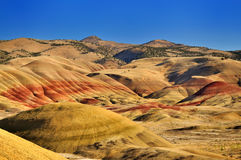Os montes pintados Foto de Stock Royalty Free