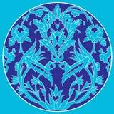 Os motivos do otomano projetam séries com as vinte umas lineares Foto de Stock Royalty Free