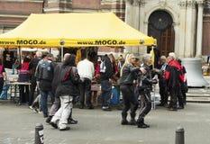Os motociclistas da dança O festival dos motociclistas MoGO 35 Imagens de Stock