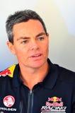 Os motoristas do campeão dos supercarros de V8 encontram fãs do Motorsport em Auckland, Imagens de Stock Royalty Free