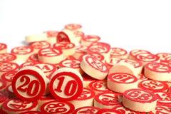 os números 2010 do bingo isolaram-se Fotografia de Stock Royalty Free