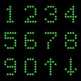 Os números de lâmpadas em um fundo preto Imagem de Stock Royalty Free
