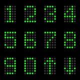 Os números de lâmpadas em um fundo preto Fotografia de Stock